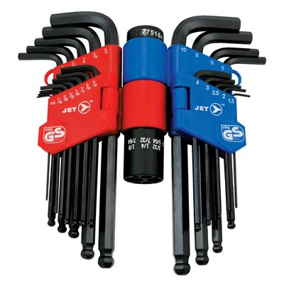 Picture of JET S.A.E./Metric Long Arm Ball Nose Hex Key Set - 22 Piece