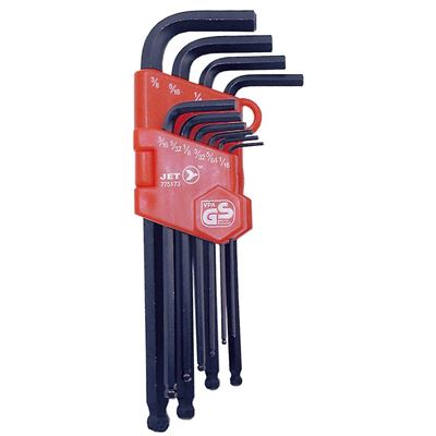 Picture of JET S.A.E. Long Arm Ball Nose Hex Key Set - 10 Piece