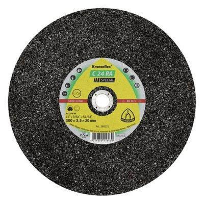 "Picture of Klingspor C24RA Flat Cutting Wheel - 14"" x 5/32"" x 20mm"