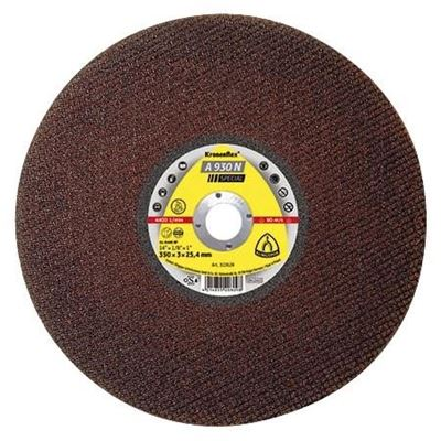 "Picture of Klingspor A930N Flat Cutting Wheel - 14"" x 1/8"" x 1"""