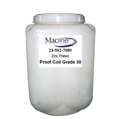 Picture of Macline Grade 30 Zinc Plated Proof Coil Chain - Pails