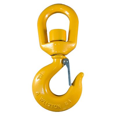 Picture of Macline 3 Alloy Steel Swivel Eye Hoist Hooks with Latch