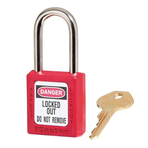 Picture of Master Lock Model 410RED Zenex™ Thermoplastic Safety Padlock