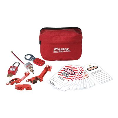 Picture of Master Lock Model S1010E410 Compact Safety Lockout Pouch with Zenex™ Thermoplastic Padlocks