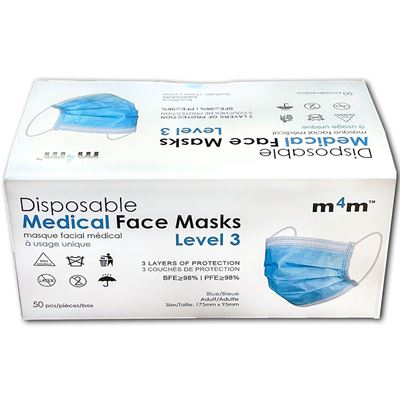 Picture of Three-Ply Disposable Face Mask, ASTM Level 3