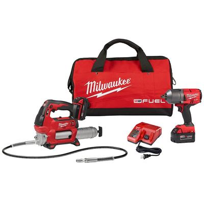 """Picture of Milwaukee® M18 FUEL™ High Torque 1/2"""" Impact Wrench Kit with Bonus M18™ Grease Gun"""