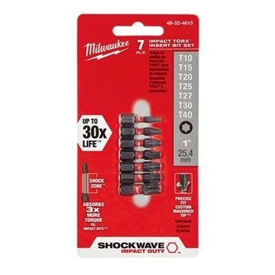 """Picture of Milwaukee® 7 Piece SHOCKWAVE™ Torx 1"""" Insert Bit Set"""