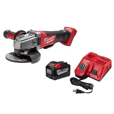"Picture of Milwaukee® M18™ REDLITHIUM™ 9.0AH Battery Starter Kit with M18 FUEL™ 4-1/2"" / 5"" Grinder"