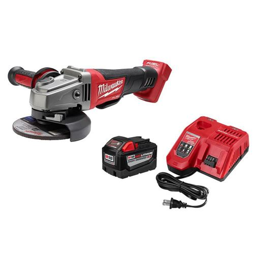 """Picture of Milwaukee® M18™ REDLITHIUM™ 9.0AH Battery Starter Kit with M18 FUEL™ 4-1/2"""" / 5"""" Grinder"""