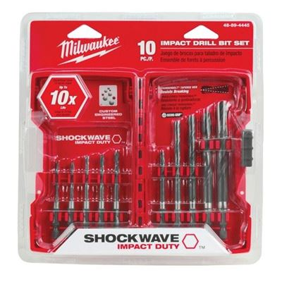 Picture of Milwaukee® 10 Piece Black Oxide SHOCKWAVE™ Hex Drill Bit Sets