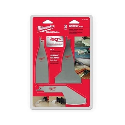 Picture of Milwaukee® 3 Piece Material Removal Blade Set