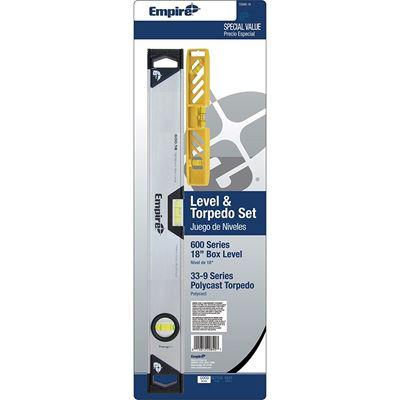 Picture of Empire® TC600 Aluminum Level and Torpedo Level Set