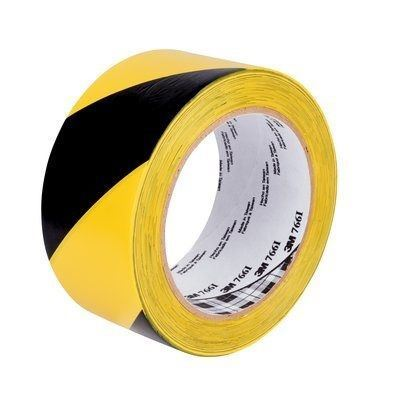 "Picture of 3M™ Black/Yellow Aisle Marking Tape - 2"" x 36 Yards"