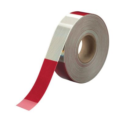 "Picture of 3M Red/White Conspicuity Tape - 2"" x 150'"