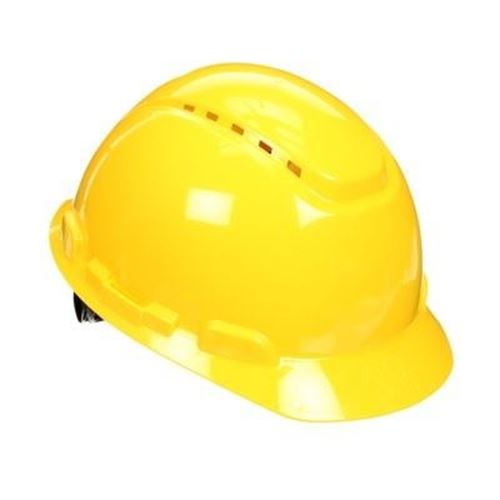 Picture of 3M™ Yellow 700 Series Type 1 Vented Hard Hat - Ratchet Suspension