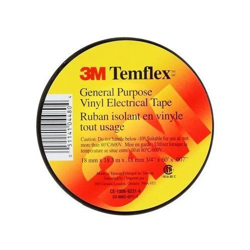 """Picture of 3M™ Black TEMFLEX Electrical Tape - 3/4"""" x 60'"""