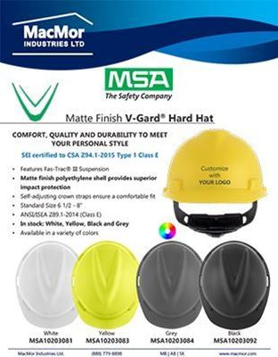 Picture for MSA V-Gard Matte Hard Hat Flyer
