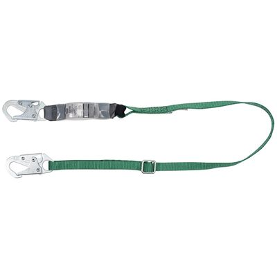 Picture of MSA 6' V-Series Single-Leg Adjustable Energy-Absorbing Lanyard - 2 Locking Snap Hooks