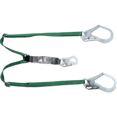 Picture of MSA 6' V-Series Twin-Leg Adjustable Energy-Absorbing Lanyard - 2 Large Rebar Hooks