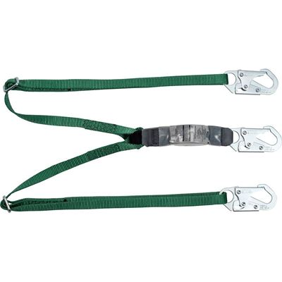 Picture of MSA 6' V-Series Twin-Leg Adjustable Energy-Absorbing Lanyard - 2 Locking Snap Hooks