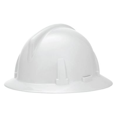 Picture of MSA White Topgard® Full Brim Hard Hat, Type 1 - Fas-Trac Suspension