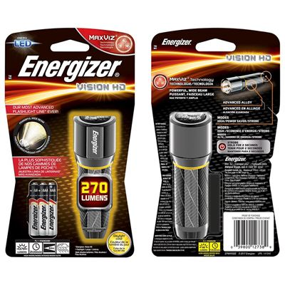 Picture of Energizer® EPMHH32E Vision HD Compact LED Metal Flashlight