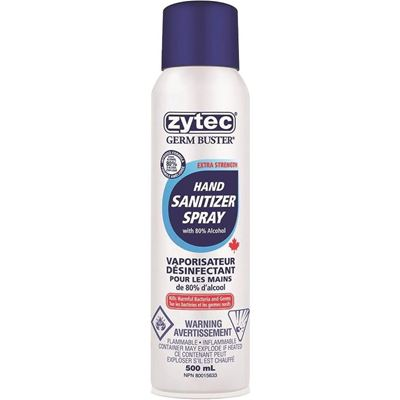 Picture of Zytec® Germ Buster® Pro Hand Sanitizer Spray - 80% Alcohol - 500ml