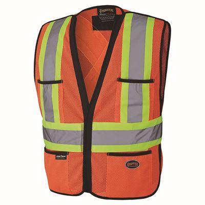 Picture of Pioneer Orange Hi-Viz Polyester Traffic Vest