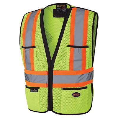 Picture of Pioneer Lime Green Hi-Viz Polyester Traffic Vest