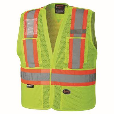 Picture of Pioneer Hi-Viz Lime Safety Tear-Away Vest - 2X-Large/3X-Large