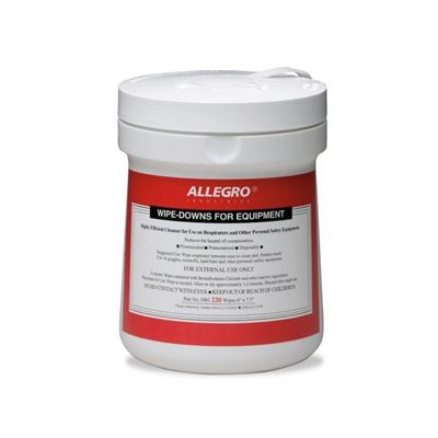 Picture of Allegro Respirator Cleaning Wipes - BZK/Isopropyl Alcohol