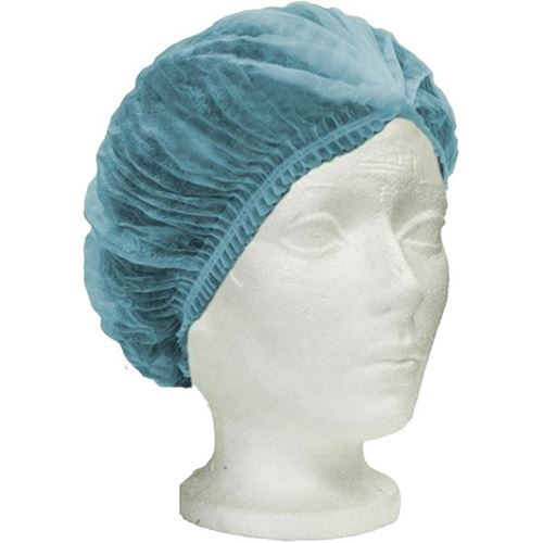 Picture of Ronco CARE™ Blue Pleated Polypropylene Bouffant Cap
