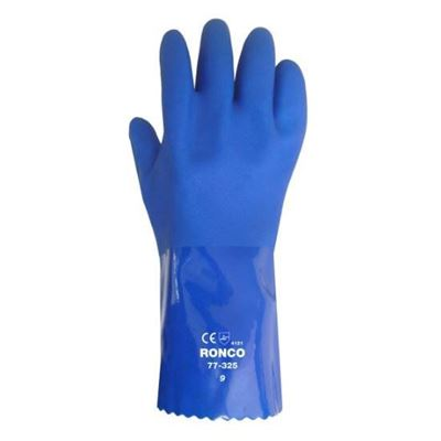 """Picture of Ronco 77-325 Integra™ 12"""" Triple Dipped PVC Glove with Cotton Interlock Liner"""