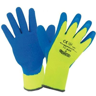 Picture of Ronco 77-600 THERMAL Latex Coated Cold Resistant Gloves - Size 9