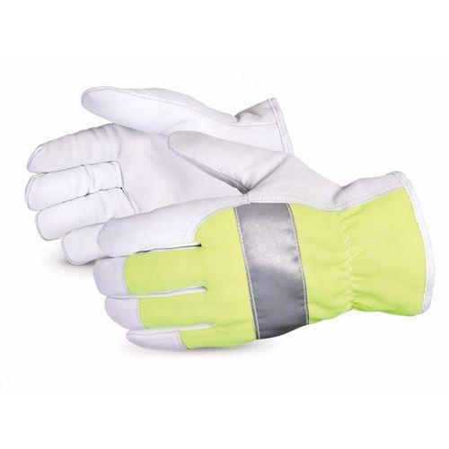 Picture of Superior Glove Endura® Thinsulate™-Lined Hi-Viz Goat-Grain Driver Gloves - Large