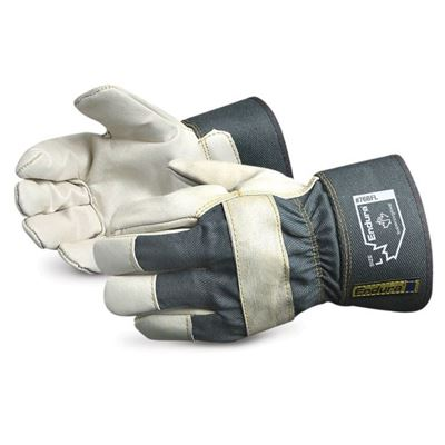 Picture of Superior Glove Ladies Endura® Cotton Fleece Lined Cowgrain Fitters Gloves - One Size