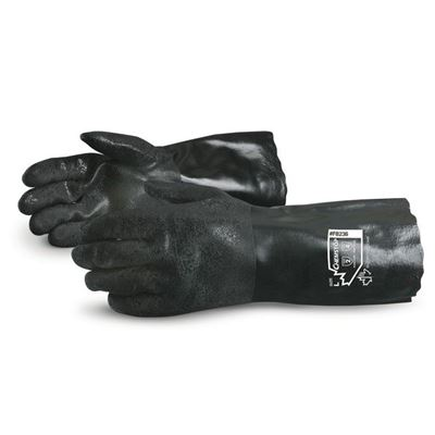 "Picture of Superior Glove Chemstop™ 14"" Double-Dipped PVC Gloves"