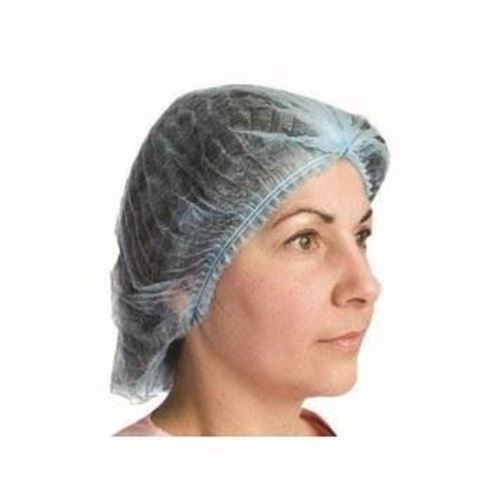 """Picture of Blue Pleated Poly Cap - Size 21"""""""