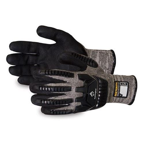 Picture of Superior Glove Dexterity® Anti-Impact Cut-Resistant Glove with Micropore Nitrile Grip - Size 9