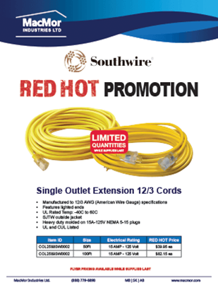 Picture for Southwire - Extension Cord 2020 Promo Flyer