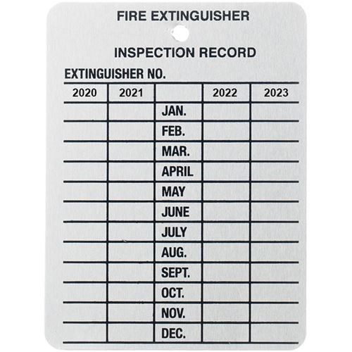 Picture of 4 Year Metal Inspection Tag - English