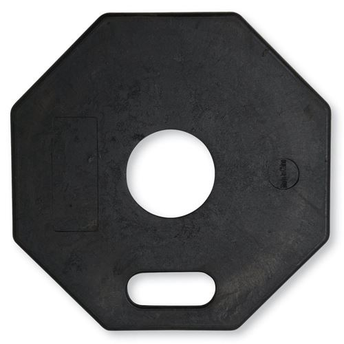 Picture of 11 lbs. Octagonal Rubber Delineator Base