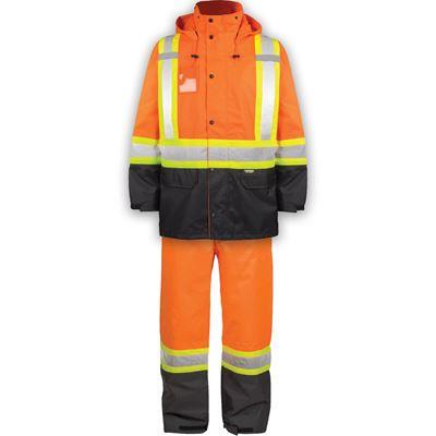 Picture of TERRA® 116250 Hi-Vis Orange 300D Polyester Rain Suit