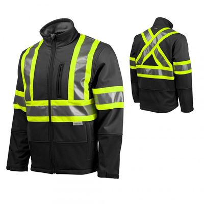 Picture of TERRA® Black Hi-Viz Softshell Jacket with Reflective Tape