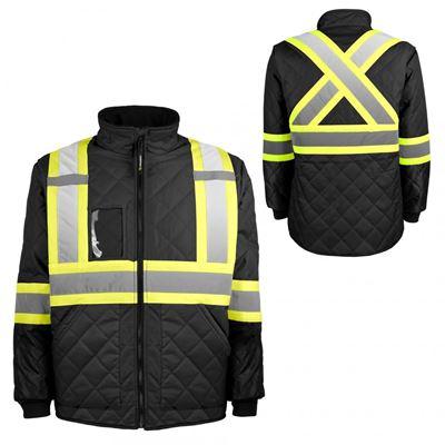 Picture of TERRA® Hi-Vis Lined Black Freezer Jacket