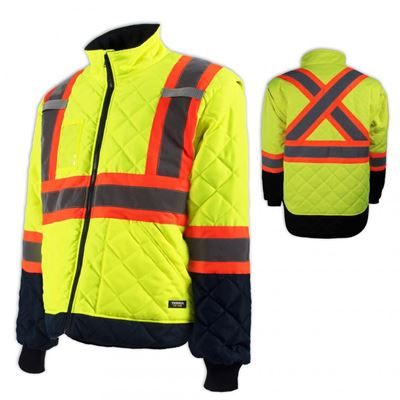 Picture of TERRA® Hi-Vis Lined Yellow Freezer Jacket