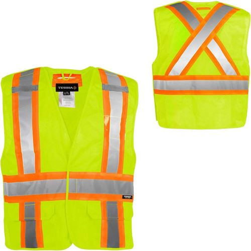 Picture of TERRA® Hi-Vis Yellow 5-Point Tear-Away Safety Vest