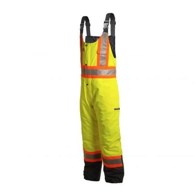 Picture of TERRA® Hi-Viz Lime Insulated 300D Winter Insulated Bib Overall