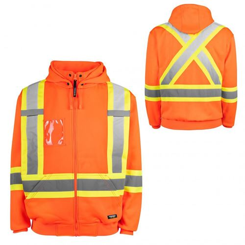 Picture of TERRA® Orange Hi-Vis Fleece Hoodie