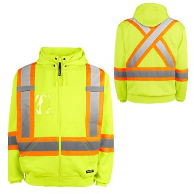 Picture of TERRA® Yellow Hi-Vis Fleece Hoodie